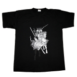 Black t-shirt with Samurai print